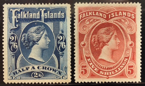 FALKLAND ISLANDS  20 - 21  VERY  Nice  Mint   Hinged  Set  VICTORIA  VF   OD95