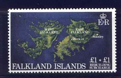 Falkland Islands B1 MNH Map, Rebuilding after Conflict