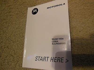 VINTAGE MOTOROLA MODEL V60S CDMA SJJN5859B  CELL PHONE OWNER MANUAL