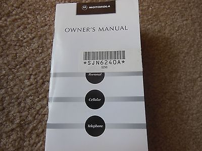VINTAGE RARE MOTOROLA MICRO TAC MANUAL NUMBER SJN6240A CELL PHONE OWNER MANUAL