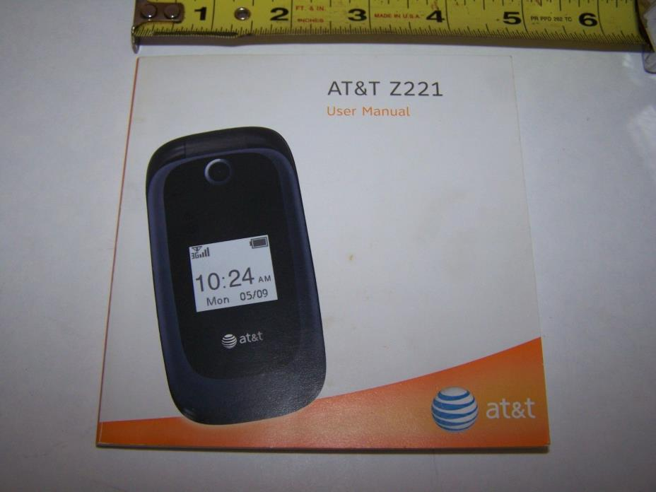 ZTE Z221 User Manual At&t  from 2011