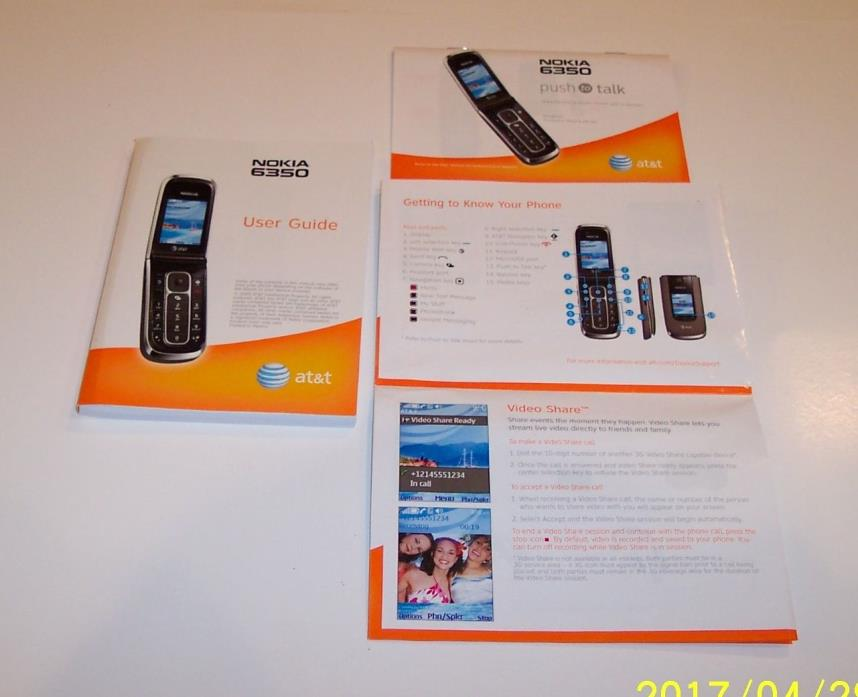 Nokia 6350 - User Guide and Quick Start Guide and Push to Talk Guide