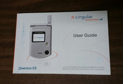 PANTECH C3 ATT/Cingular Users Guide Manual