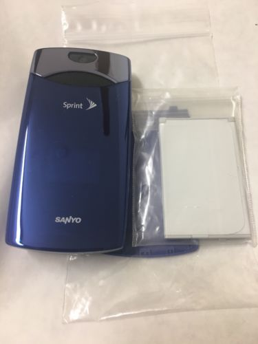 Sanyo Katana LX Flip Phone Cellphone Blue Refurbished without box