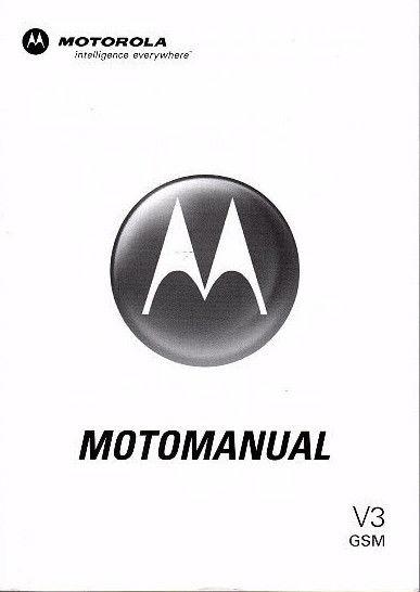 MOTOROLA V3 MOTOMANUAL GSM SJJN6817B