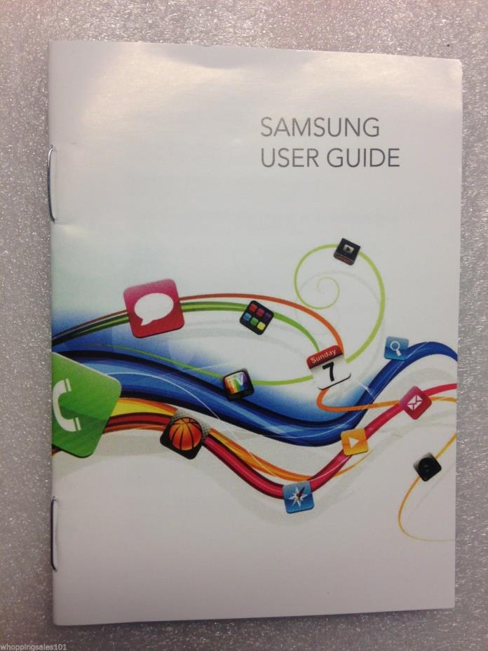 Brand New Wholesale Lot 130x Samsung User Quick Start Guide Manuals Pamphlet 20p