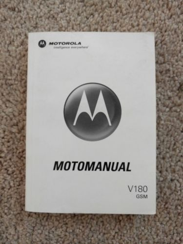 Motorola Motomanual V180 GSM Cell Phone Operating Manual