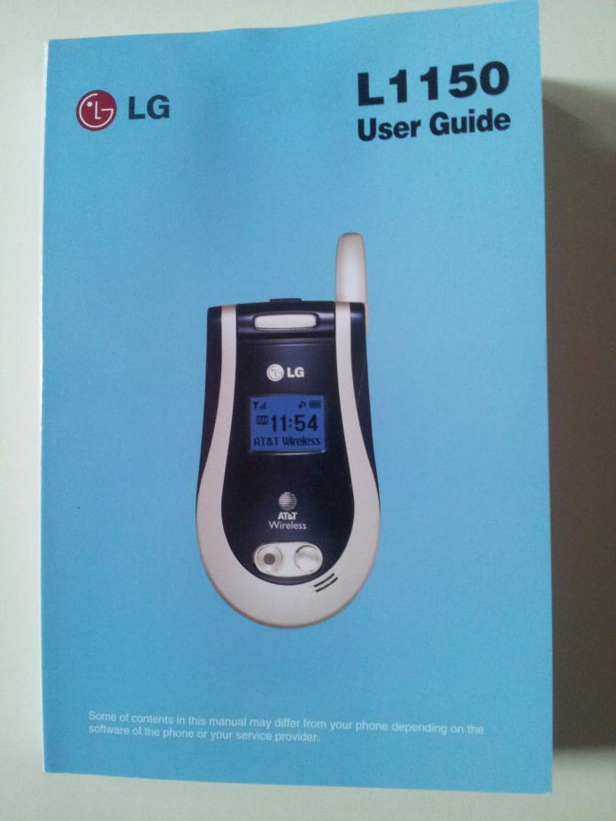 LG L1150 Flip Phone User Guide English/Spanish (AT&T)/ Manual ONLY