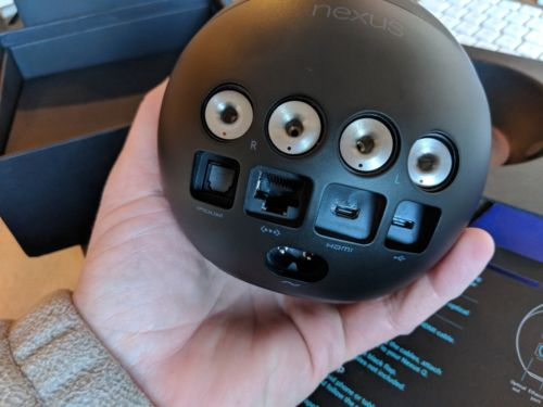RARE Google Nexus Q, In Original Box Collectors Item