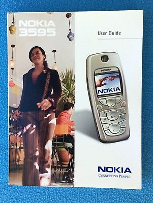 2003 AT&T Nokia 3595 User Guide - Very Fine Condition!