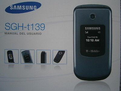 Spanish Language Samsung SGH-t139 Flip Phone User Manual del Usuario en Español