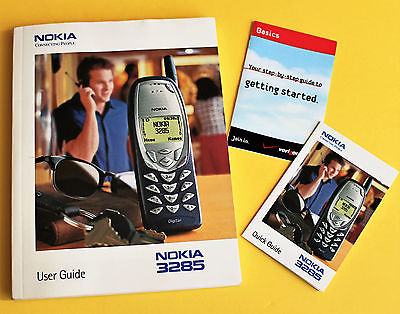 NOKIA 3285 Cell Phone USER GUIDE book with Quick Start cards FREE SHIPPING