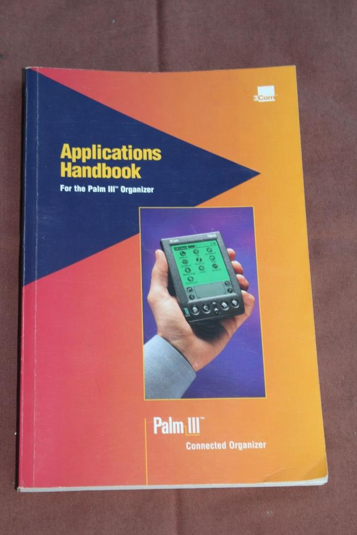 3Com Palm III Handheld PDA Applications Handbook Manual