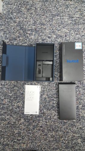 Samsung Galaxy Note 8 BOX ONLY with quickstart guide, sim tool and paperwork
