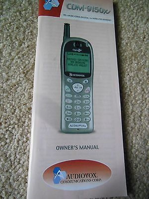 VINTAGE AUDIOVOX WIRELESS DIGITAL HANDSET CDM-9150X OWNERS MANUAL