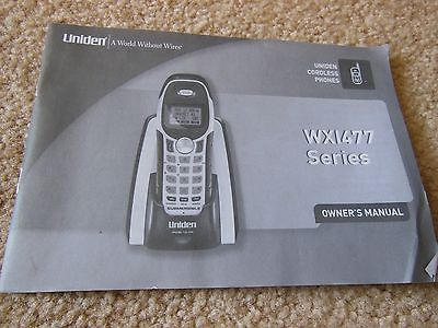 VINTAGE UNIDEN CORDLESS PHONE WX1477 SERIES OWNER MANUAL