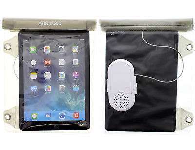 Aleratec Water-resistant Dry Bag Pouch with Speaker for iPad, other 10.1