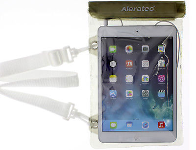 Aleratec Water-resistant Dry Bag Pouch w/ Speakers for iPad Mini and 7