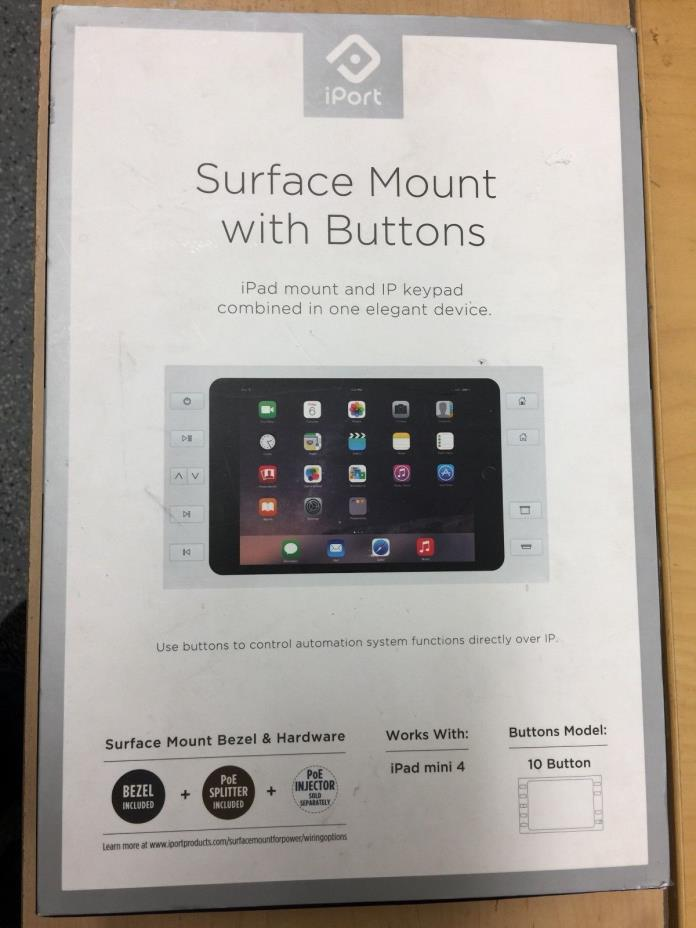 WAREHOUSE CLEANOUT!! iPort Surface Mount Bezel w/buttons - iPad Mini 4 FREE SHIP