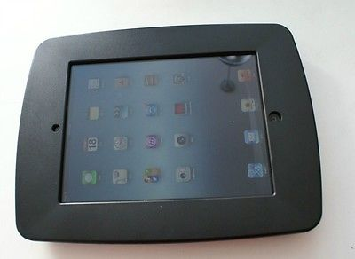 ABS plastic iPad enclosure for iPad 2/3/4, include 3 faceplates (Black)