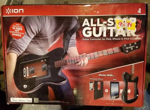 Ion all star guitar for use with IPad, IPhone, IPod Touch