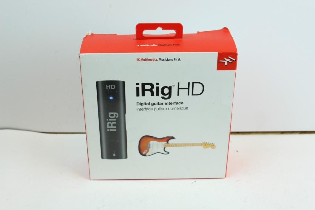 NEW iRig HD IK Multimedia iOS Iphone Ipad Guitar studio