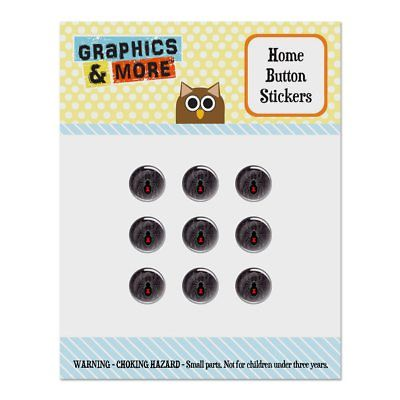 Black Widow Spider on Web Home Button Stickers Fit Apple iPhone