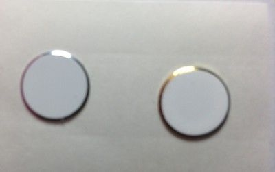 Aluminium White Silver+Gold Ring Metal 322 Home button Stickers iPhone