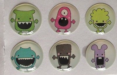 Kids Monsters +more 127 IPHONE Home Button 5Sticker 6pk Free gift with purchase
