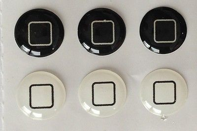 Black +White 3218 IPHONE Home ButtonSticker decal iPhone Free gift with purchase
