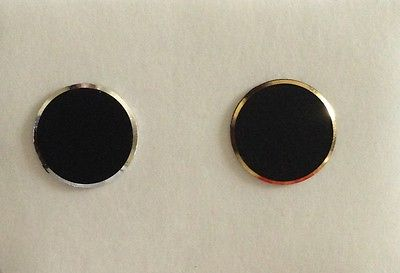 HOT Aluminium Black Silver+Gold Ring Metal 3223 Home button Stickers iPhone
