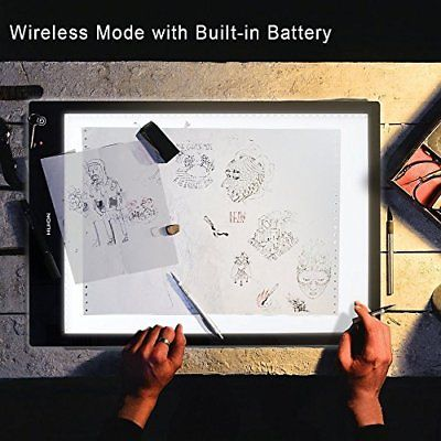 Huion LB3 Battery USB Power Tracing Light Box Wireless Table for Drawing Pens