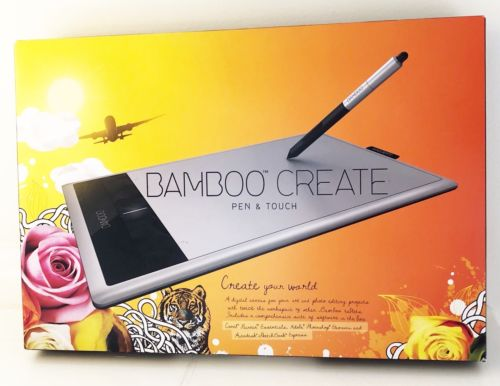 BAMBOO CREATE Wacom Touch Tablet Model CTH-670 & Stylus NEW in Box