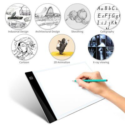 A4 LED Tracing Light Box USB Power 0.4CM 3-Level Brightness Eye-protect Pad Draw