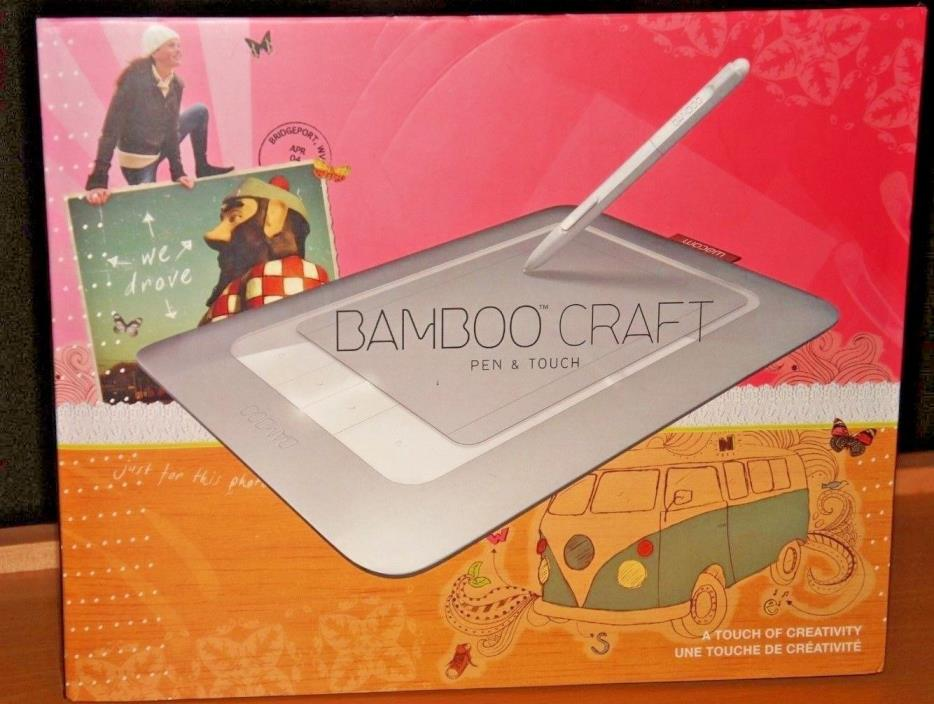 NEW!!!!  Wacom CTH461 Bamboo Craft Tablet NIB Pen & Touch Tablet