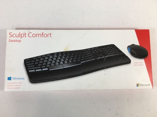 Microsoft Sculpt Comfort Wireless Keyboard & Mouse 2000 Missing Dongle *E8