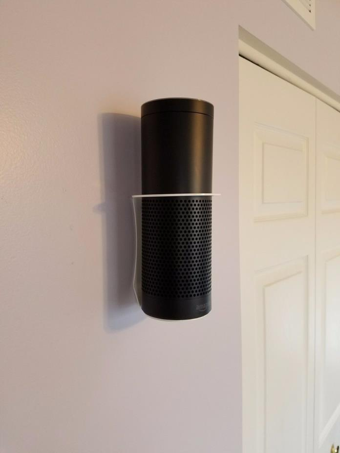 Amazon Echo wall mount holder in White, Sturdiest one selling! Made in the USA