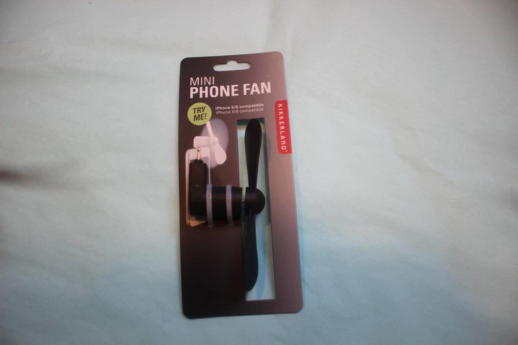 Brand New Mini Phone Fan iphone 5/6 Compatible Kikkerland NIP