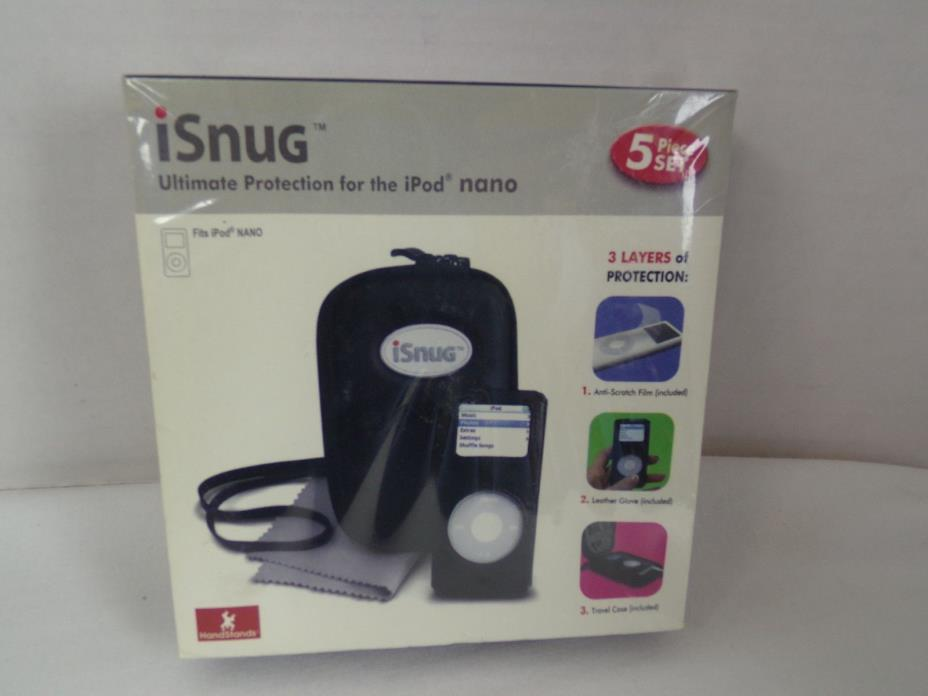 iSnug Protection Case for the iPod Nano Set Travel Case Black