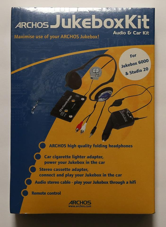 ~New~ARCHOS Jukebox Audio & Car Kit~For Jukebox 6000 & Studio 20~Fast Shipping~