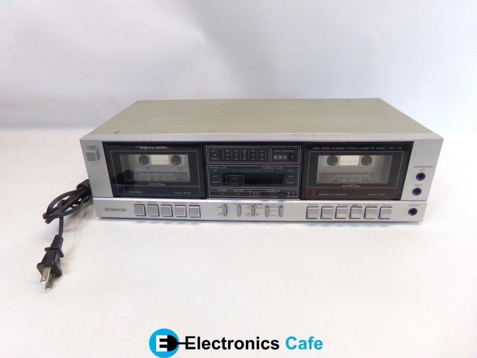 Realistic SCT-74 Stereo Cassette Deck *No Remote*