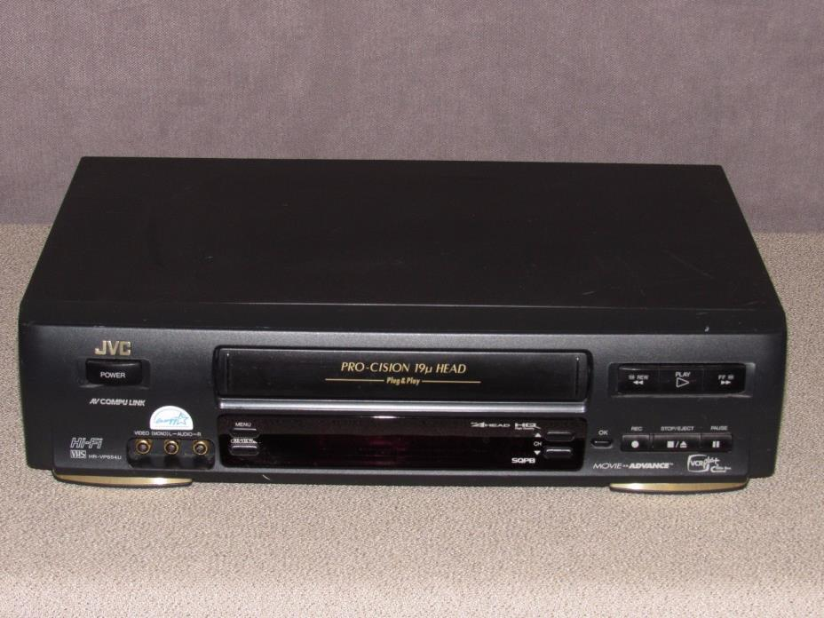 JVC HR-VP654U Hi-Fi VCR Pro-Cision DA 4 Head Works Great