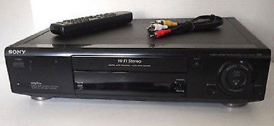 Sony SLV-775HF HiFi Stereo VHS VCR Recorder Player With Tuner Remote & Cables