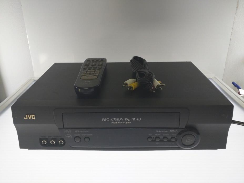 JVC HR-A57U Pro-Cision 4-Head VCR VHS Player with Remote and AV cable