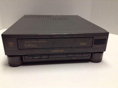 Craig VCR PV7262 VHS Videocassette Recorder Player PARTS/REPAIR