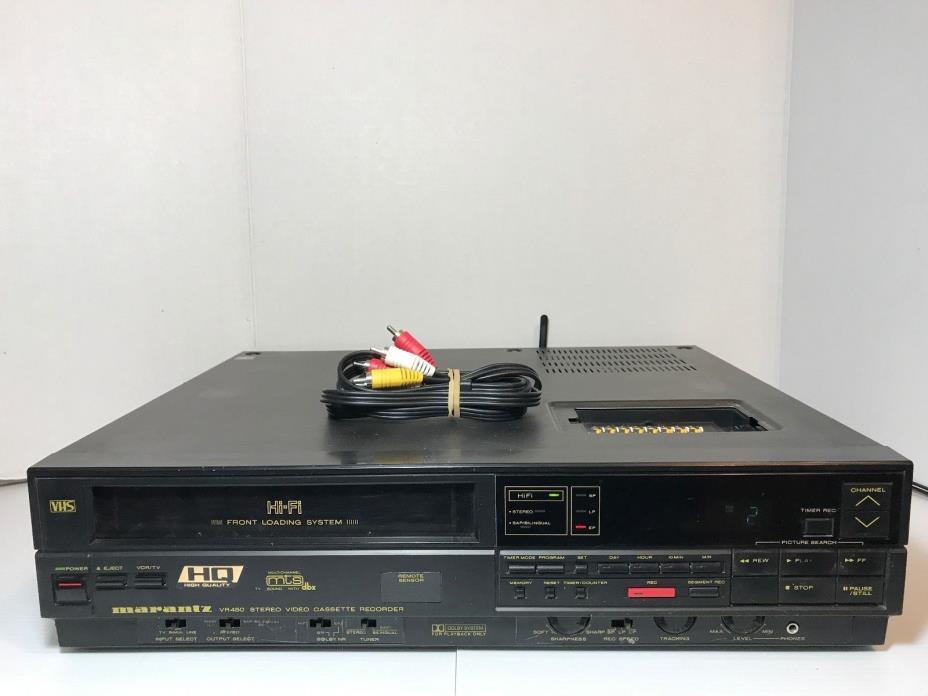 MARANTZ VR450 Vintage  Hifi Stereo VHS VCR