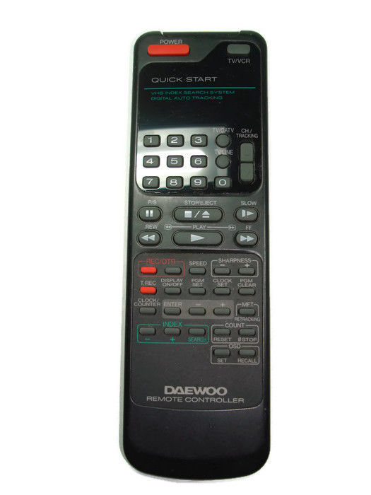 Daewoo Remote VHS Controller VHS Index Search System