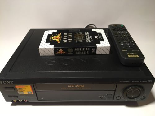 Sony SLV-685HF VCR VHS Player Recorder Tested Cleaned Works Great with remote
