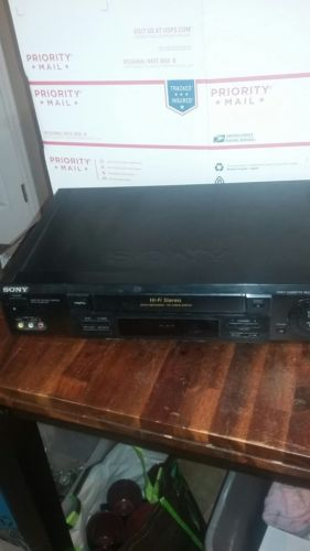Sony SLV-778HF Hifi Stereo VHS VCR Videocassette Recorder Player No Remote Works