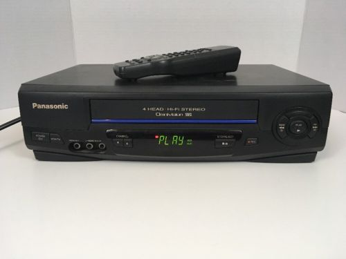 Panasonic Hi-fi Stereo 4-Head VHS VCR Video Cassette Recorder W/ REMOTE